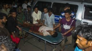 示威者和孟加拉当地警方发生了激烈冲突。一名伤者被送往当地医院。