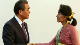 ဒေါ်အောင်ဆန်းစုကြည်နဲ့တရုတ်နိုင်ငံခြားရေးဝန်ကြီး