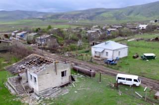 Bombed house in Karabakh