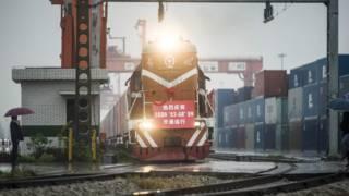 中國武漢至法國里昂貨運鐵路線開通