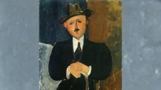 """Картина Модильяни """"Сидящий мужчина с тростью"""""""