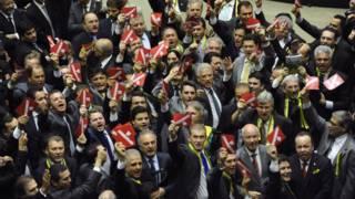 Parlamentarios brasileños