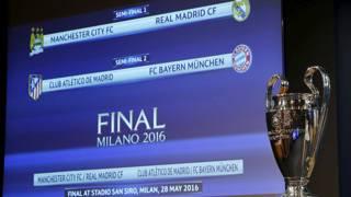سحب قرعة نصف نهائي دوري أبطال أوروبا