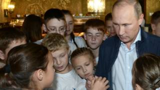 Putin with children