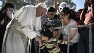 Papa en Lesbos