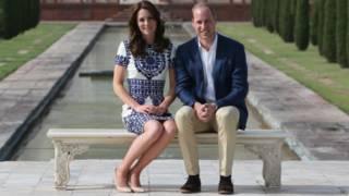 ब्रिटेन के राजकुमार विलियम और उनकी पत्नी डचेस ऑफ़ कैंब्रिज कैथरीन