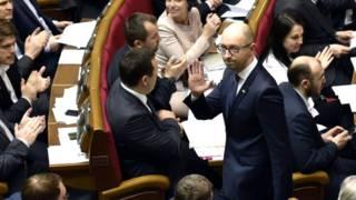 Арсеній Яценюк у Верховній Раді у день відставки