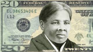 Una foto referencia de cómo podría verse el billete de 20 dólares con la imagen de Harriet Tubman