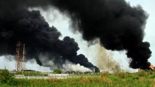 Взрыв на нефтеперерабатывающем заводе в Мексике