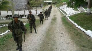 Soldados guatemaltecos