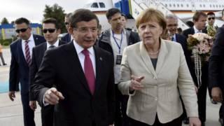 Меркель и Давутоглу