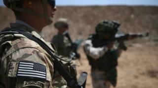Американский инструктор в Ираке