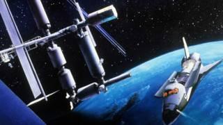Космическая станция и челнок