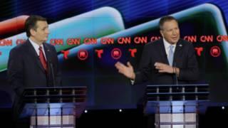 Сенаторы Тед Круз и Джон Кейсик на дебатах в Хьюстоне