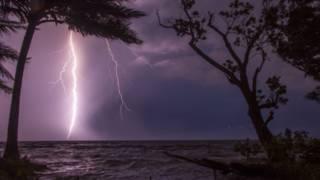 El relámpago desde Ologá, una población al Sur del Lago desde donde se ve cada noche el fenómeno.