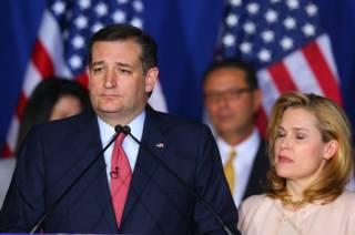 Тед Круз и его жена  в Индианаполисе 3 мая 2016 года