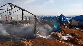 Лагерь беженцев после авиаудара