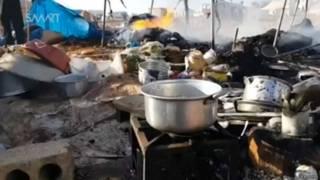 शरणार्थी शिविर पर हमले