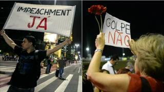 Manifestações pró e contra impeachment