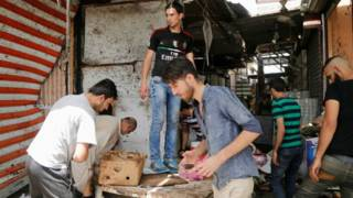 Взрыв на рынке в районе аль-Шааб на севере Багдада