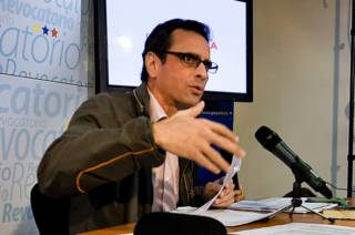 Лидер оппозиции Венесуэлы Энрике Каприлес