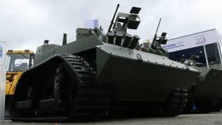 Боевой робот на выставке в Нижнем Тагиле