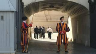 Guardias suizos en el Vaticano