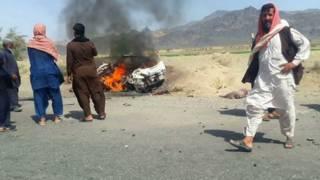 पाकिस्तान का वह इलाक़ा जहां मुल्ला मंसूर की कार को निशाना बनाया गया.