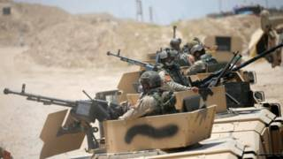 نیروهای عراقی در حومه فلوجه