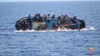Переворачивающаяся лодка