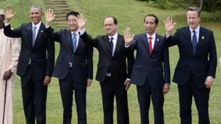 Лидеры G7 в Японии