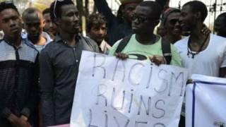 हैदराबाद में अफ्रीकी नागरिकों का प्रदर्शन