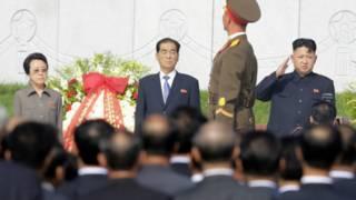 Ким Гён Хи и Ким Чен Ын