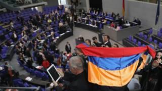 Армянский флаг в Бундестаге