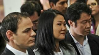 Mark Vito Villanella, Keiko Fujimori y Kenji Fujimori