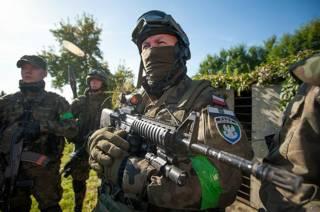 Участник военизированной патриотиченской организации в Польше