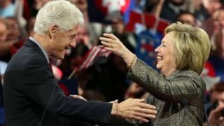 Bà Hillary Clinton và phu quân ông Bill Clinton