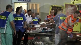 Раненых доставили в больницы Тель-Авива