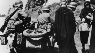 Немецкие солдаты, фото 1940 года