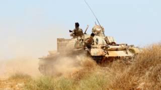 Танк ливийских военных