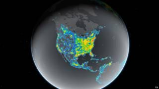 Карта светового загрязнения