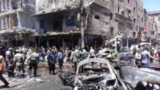 Последствия взрыва в районе Саида Зейнаб