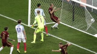 Гол России в ворота Англии