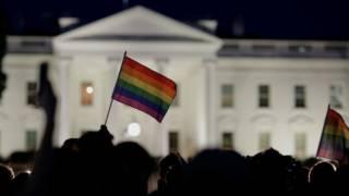 Флаг ЛГБТ у Белого дома