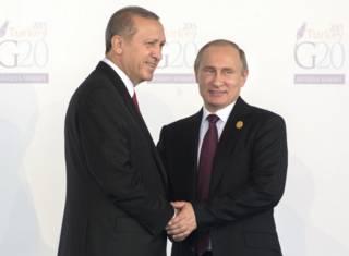 Реджеп Тайип Эрдоган и Владимир Путин (архивное фото)