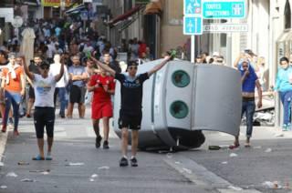 Столкновения в Лилле