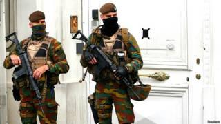 ब्रसेल्स (बेल्जियम) में सुरक्षा कड़ी
