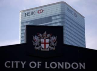 位於倫敦金絲雀碼頭的匯豐銀行總部(資料圖片)