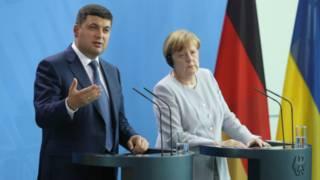 Гройсман і Меркель