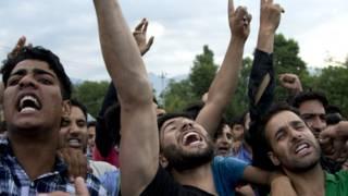 कश्मीर में विरोध प्रदर्शन